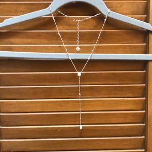 Kendra Scott Claudia silver lariat necklace
